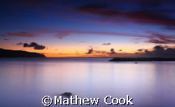 &quot;Pua'ena Sunset&quot;. Photo taken near Hale'iwa, HI. Thanks! by Mathew Cook 